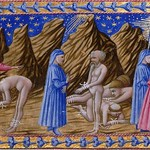 80d Приамо делла Кверча. Чистилище, пятый круг - Встреча с корыстолюбцами. Папа Адриан V, Гуго Капет и Публий Стаций