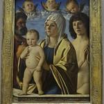 82 Джованни Беллини. Богородица с Петром и Себастьяном, 1487. Лувр