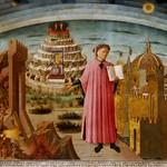 80 Доменико да Микелино. Данте и три царства. Фреска в Дуомо, 1465. Флоренция.