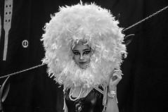 fluffy (rafasmm) Tags: łódź lodz poland polska europe show tattoo days festival people nikon d90 nikkor afs 18105 fetish passion expression performance woman arrangement artist fluffy blackwhite bw black white monochrome