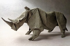 Rinoceronte (mrmicawer) Tags: papiroflexia origami papel rhino rinoceronte paquidermo cuerno horn