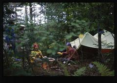 Maine 1977 (Robert Drozda) Tags: maine coast 1977 camping tent sister bill kodak ektachrome minoltasrt 35mmtransparency drozda