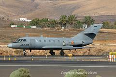 FALCON 20D TM.11-3 SPANISH AIR FORCE (shanairpic) Tags: military bizjet da20 falcon20 dassault arrecife lanzarote oceansky spanishairforce tm113