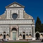 07 Церковь С-Мария Новелла, 1246-1420. Фасад - Леон Батиста Альберти 1456-70, Флоренция