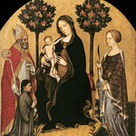 14 Джентиле да Фабриано Богородица со святыми Николаем и Екатериной и донатором 1395-1400