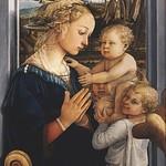 32 Филиппо Липпи Богородица с младенцем и двумя ангелами, 1459-60. Уффици