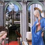 30a Филиппо Липпи  Благовещение. Фрагмент,1443-45 Мюнх Пинакотека