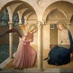 39 Фра Беато Анжелико.Благовещение. Фреска м-ря Сан-Марко, 1438-45