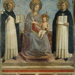 41 Фра Беато Анжелико. Богородица со свв.Домеником и Фомой Аквинским, 1439. Эрмитаж