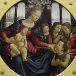 58 Гирлондайо. Богородица со Спасителем, Предтечей и тремя ангелами, 1490. Лувр