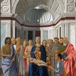 71 П. дела Франческа. Алтарь Федериго да Монтефельтро, 1472 Галерея Брера, Милан