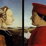 68 Пьеро дела Франческа. Федериго да Монтефельтро с супругой Баттистой Сфорца, 1472