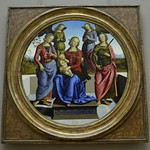 89 Перуджино Богородица со св.Розой и св Екатериной, 1495. Лувр
