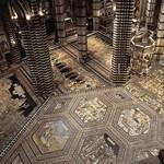 92b Сиенский собор. Мозаичные мраморные полы