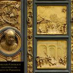 96f Л.Гиберти. Врата Рая. Дверная ручка - Автопортрет скульптора