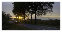 ...three lights... (VanveenJF) Tags: zeiss sony 35mm nederland holland sunset sunny trees toyota street road travel landscape fields farming sunrise seasons fall summer netherlands travelling tourism tourist weggetje