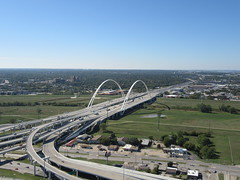 Margaret McDermott Bridge (TheTransitCamera) Tags: dallas downtown reuniontower observation observatory deck view visit vacation travel city texas road freeway highway interstate drive car web concrete structure
