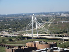 Margaret Hunt Hill Bridge (TheTransitCamera) Tags: dallas downtown reuniontower observation observatory deck view visit vacation travel city texas road freeway highway interstate drive car web concrete structure