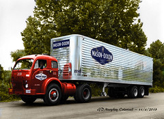 White 3000 Mason DixonColorized (gdmey) Tags: white whitemotortruck white3000 trucks fallenflag colorized truck transportation
