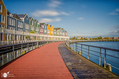 Wooden Rainbowhouses (Robert Stienstra Photography) Tags: houten houses residence woodenhouses rainbowhouses longexposure longexposurephotography long exposure architecture architectural architecturalphotography modernarchitecture utrecht colourfull colors colours reflections reflecting lee filter leefilter bigstopper nikon waterfront waterscape cityscape cityscapes boardwalk