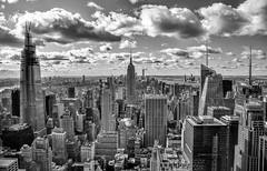 View from the top of the Rock (NYC) (WilliamND4) Tags: sky city cloud nyc newyorkcity new york building nikon d750 blackandwhite