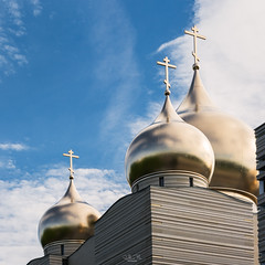 Three gold domes on blue sky background (Gilles B. Photographe) Tags: france russia church monument city tourist background dome religious architect attraction christianity orthodox architecture temple view landscape cathedral beautiful landmark beauty town cityscape outdoor culture capital sky religion famous blue symbol french paris travel tower christian urban building european europe tourism outdoors exterior