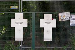 Anniversary and Memorials (wandering tattler) Tags: berlin wall death crosses berlinwall murder martyrs ostberlin freedom escape ddr 1989 gdr 2018