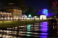 Pavilion Lit at Night (Bri_J) Tags: illuminatethegardens botanicalgardens sheffield southyorkshire uk park event yorkshire nikon d7500 night lights reflection
