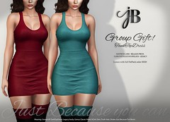 A NEW Group Gift at Just BECAUSE! (Just BECAUSE_SL) Tags: group gift free dress tank top short miniskirt cleavage sexy booty just because secondlife sl jb mainstore virtual world clothing fashion womens originalmesh