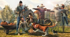 Journey between friends. (L'Homme Magazine SL November 2019) 🐾🍂🍁 (brian.werefox) Tags: findyours hive coldash notsobad secondlife avatars friends friendship moments autumn afternoon feeling lhomme magazine