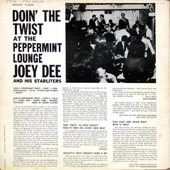 Doin' The Twist at the Peppermint Lounge - Back Cover (epiclectic) Tags: 1961 joeydeeanbdhisstarliters backcover epiclectic vintage vinyl record album cover art retro music sleeve collection lp epiclecticcom