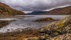 Eilean Donan View... (L.H.IMAGES) Tags: landscape loch scotland rugged rocks water cloud clouds landscapephotography scene scenics outdoor contrast autumn tranquil mountains highland