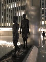 Riverblindness sculpture at night, atrium of main complex, World Bank, Washington, D.C. (Paul McClure DC) Tags: washingtondc districtofcolumbia nov2019 modern sculpture architecture worldbank