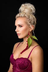 Amaranthus (sylvievienne) Tags: approved photography photoshoot photo photographer flowers pink amaranthus makeup hair canon model woman