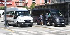20190706 - 6593 - Comazzi - Mercedes Sprinter - Nos 370 & 442 - Bus Station - Domodossola (Paul A Weston) Tags: comazzi mercedessprinter 370 442 busstation domodossola