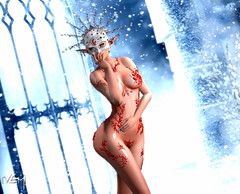 Frozen Love (Varosh Santanamiguel - MR SL ♛ AUSTRIA) Tags: wiccas original enchantment gems static maitreya lara mesh bento animesh frozen love queen snow winter ice cold adult nude mask snowflake ippos event eventexclusive exclusive xxx ruby areiyon art passion lepoppycock profect swallow gaeg skin skinny vsm