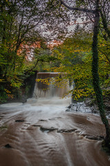 Distant Glow (Jay Gittins) Tags: waterfall water autumn river flow sunset