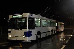 Trolleybus NAW BT-25 n°785 en service sur la ligne 9. © Marc Germann (Marc Germann) Tags: trolleybus naw bt25 posteconduite fbw hesskièpe remorques hess kiepe boutons retrobus leman tl lausanne transportspublics transport ligne2 ligne7 ligne9 belair maladièrelac désert lutrycorniche prillyeglise historique historic par brise routes rails console saeiv