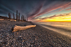 Grand Bend Sunset (Nicksemanphoto) Tags: sunset lake huron pinery provincial parks driftwood clouds