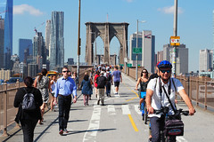 270 By Automobile, Bicycling and Walking (Eclectic Jack) Tags: september 2019 trip nyc city york new newyorkcity dumbo brooklyn bridge man woman people bicycle