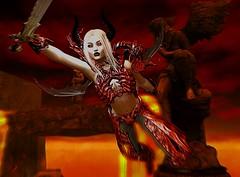 War In Hell (beccaprender) Tags: catwa catya bento maitreya lara limerence ysys demon demoness hell pandemonium hypnose theplastik sweetthing suicidalunborn
