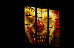 Smile for the Camera (lleon1126) Tags: halloween tillsonstreet decorationsspooky glowing clown window nightmare spooky creepy smileonsaturday letitglow