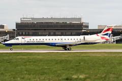 G-ERJD (PlanePixNase) Tags: aircraft airport planespotting haj eddv hannover langenhagen british britishairways embraer 145 e145
