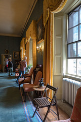 Plenty of Chairs to Seat On (Jocey K) Tags: triptoukanderoupe2019 june uk england sizerghcastleandgarden statelyhome helsington cumbria nationaltrust building architecture chairs people windows carpet paintings antiquesandcollectables shadows room interior furniture