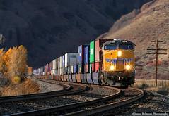 Light & Shadow Delight (jamesbelmont) Tags: unionpacific kltg4 container stacked ge es44ac wilhelminaspass devilsslide croydon henefer evanstonsub webercanyon
