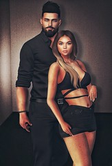 [ 📷 - 159 ] (insociable.sl) Tags: models classy black cute girlfriend bae love couple female woman girl boy man male edit sl secondlife magnificient theowl