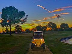 November to Remember (oybay©) Tags: gem geme2 e2 golfcar golfcart golf car cart stardustgolfclub stardust club suncitywest arizona az color colors sky clouds tree water waterfeature cartlane palmtree