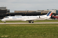 F-GUBE (PlanePixNase) Tags: aircraft airport planespotting haj eddv hannover langenhagen airfrance regional embraer 145 e145