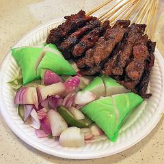Mutton and Beef Satay (Nikita Hengbok) Tags: food cuisine meal localdishofsingapore localtraditionaldishofsingapore localcuisineofsingapore hawkerfoodofsingapore localdessertofsingapore
