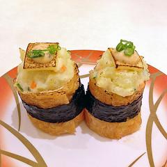 Potato Salad Inari (Nikita Hengbok) Tags: food cuisine meal europeancuisine americancuisine westerncuisine japanesecuisine japanesefood sashimiandsushi asiancuisine